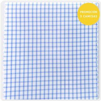 Twill cuadro azul 5049-02
