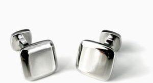 accesorios hombre gemelos cuadrado redondeado