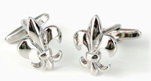 accesorios hombre gemelos flor de lis