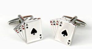 accesorios hombre gemelos poker de ases