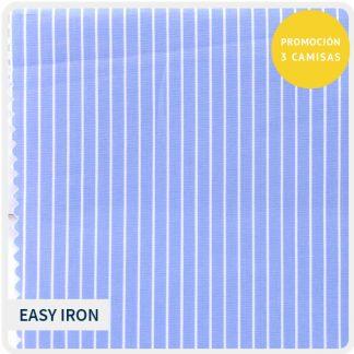 algodon easy iron azul raya fina 5162-05