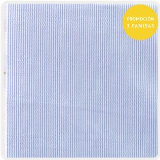 algodon raya fina azul claro 5121-01