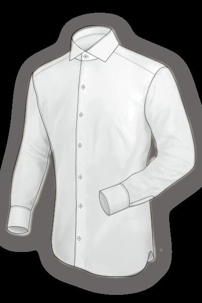 camisa a medida delantero planchado