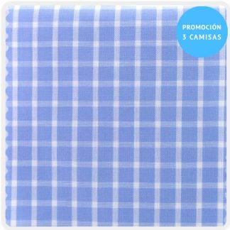 camisa a medida mezcla cuadros azul 5931-02