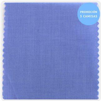 camisa a medida mezcla fil-fil azulon 5955-50