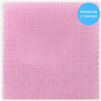 camisa a medida mezcla fil-fil rosa 5955-20