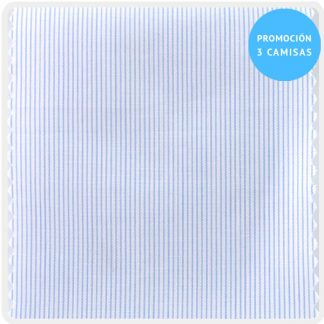 camisa a medida mezcla raya fina azul claro 6097-01