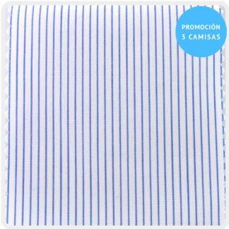 camisa a medida mezcla raya fina marino 5922-01