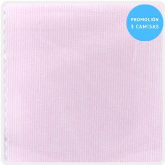camisa a medida mezcla raya fina rosa 6097-08