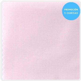camisa a medida mezcla rosa claro 5900-15