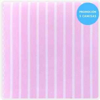 camisa a medida mezcla rosa raya blanca 5930-08