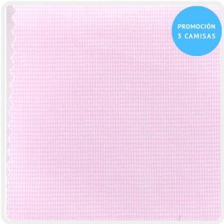camisa a medida microvichy rosa 5927-08