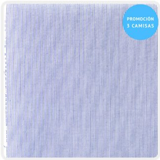 camisa a medida mil rayas azul 5926-02