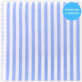 camisa a medida raya candela azul 5928-01