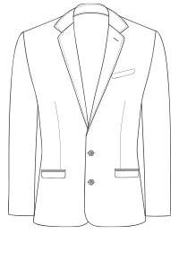 delantero chaqueta 2 botones
