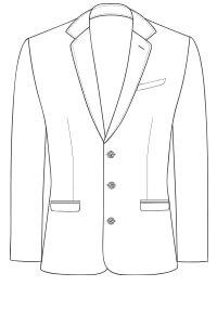 delantero chaqueta 3 botones