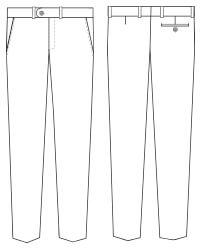 pantalon traje estrecho