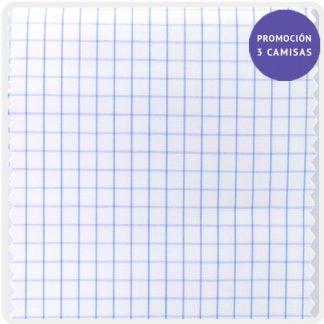 popelin algodoncuadro azul claro 5202-05