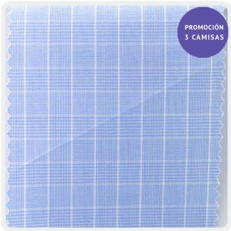 popelin cuadro gales azul 5027-01